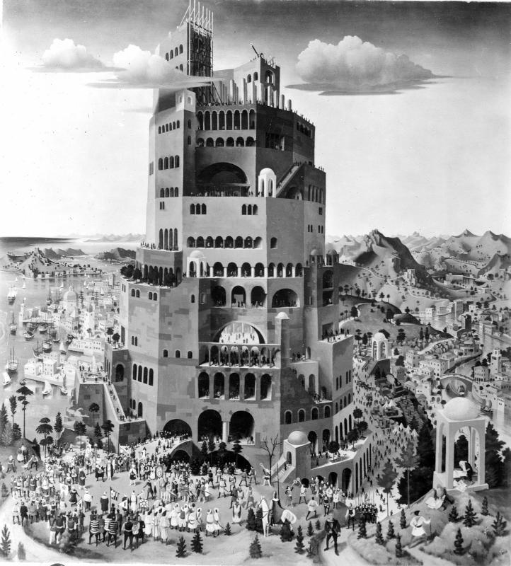 Turmbau zu Babel. von Sedlacek, Franz
