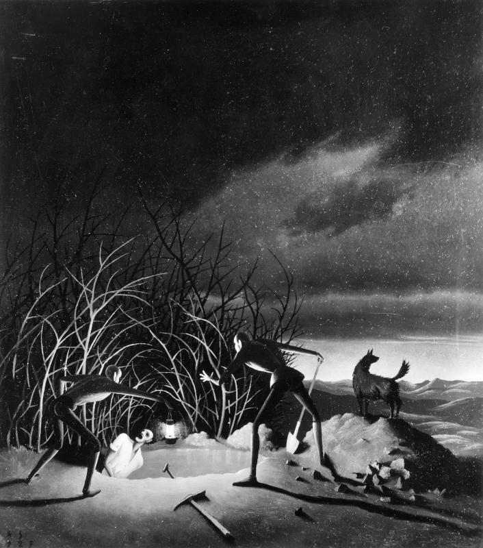 Drei Männer beim Graben von Sedlacek, Franz