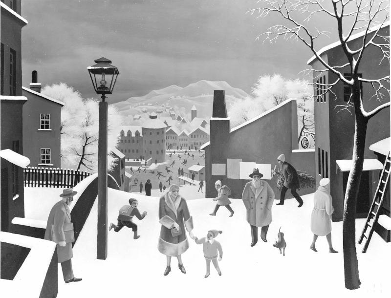 Winter in der Stadt von Sedlacek, Franz