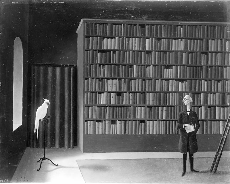 In der Bibliothek. von Sedlacek, Franz